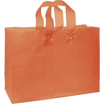 Orange Frosted High Density Shoppers, 16 x 6 x 12