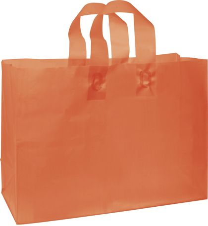 Orange Frosted High Density Shoppers, 16 x 6 x 12""
