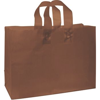 Chocolate Frosted High Density Shoppers, 16 x 6 x 12