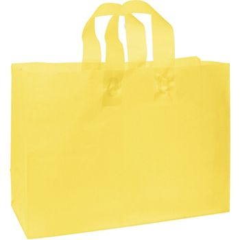 Yellow Frosted High Density Shoppers, 16 x 6 x 12""