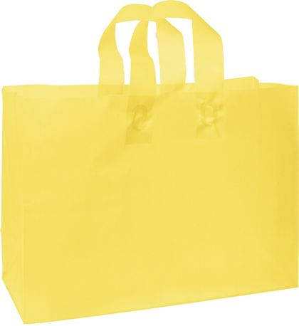 """Yellow Frosted High Density Shoppers, 16 x 6 x 12"""""""