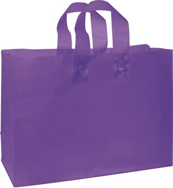 Grape Frosted High Density Shoppers, 16 x 6 x 12