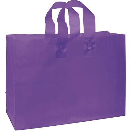 Grape Frosted High Density Shoppers, 16 x 6 x 12""