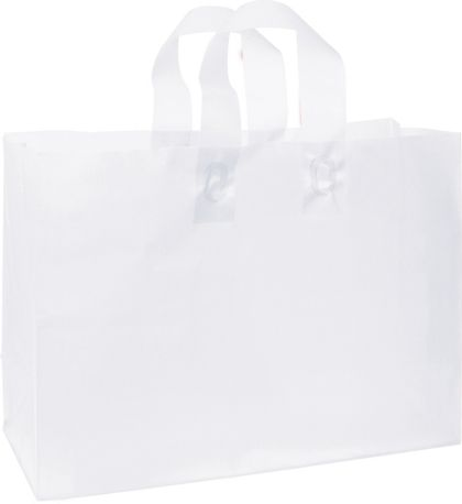"""White Frosted High Density Shoppers, 16 x 6 x 12"""""""