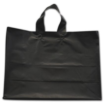 """Black Frosted Flex-Loop Shoppers, 16 x 6 x 12"""""""