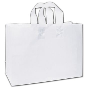 """Clear Frosted Flex-Loop Shoppers, 16 x 6 x 12"""""""