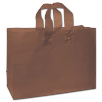 """Espresso Frosted Flex-Loop Shoppers, 16 x 6 x 12"""""""