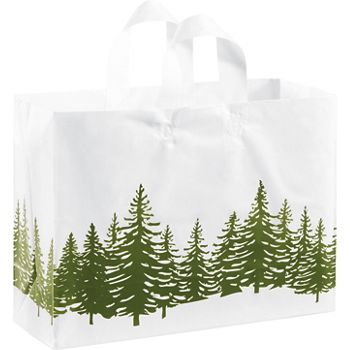 Icy Evergreen Shoppers, 16 x 6 x 12