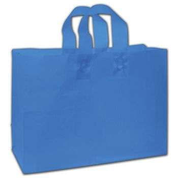 "Ocean Blue Frosted Flex-Loop Shoppers, 16 x 6 x 12"""