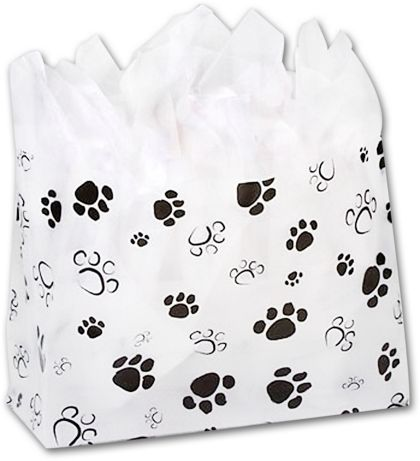 Paws Frosted Shoppers, 16 x 6 x 12""