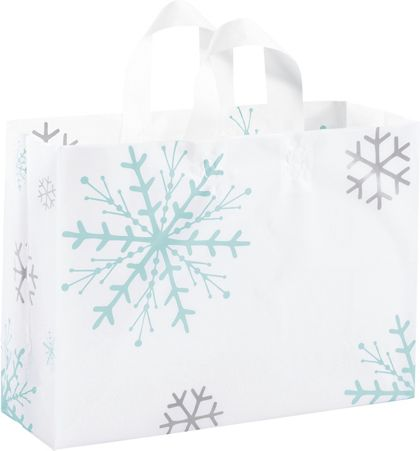 Snowflake Shoppers, 16 x 6 x 12""