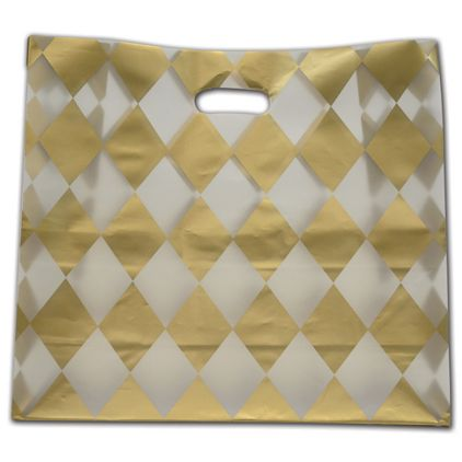 """Harlequin Frosted Die-Cut Shoppers, 16 x 6 x 15"""""""
