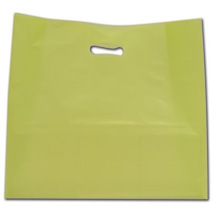 """Lime Frosted Die-Cut Shoppers, 16 x 6 x 15"""""""