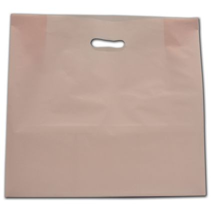 """Light Pink Frosted Die-Cut Shoppers, 16 x 6 x 15"""""""