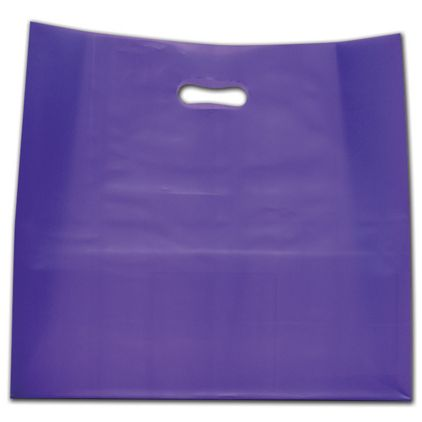 """Purple Frosted Die-Cut Shoppers, 16 x 6 x 15"""""""