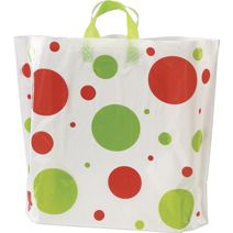 "Holiday Spots High-Density Bags, 16 x 15"" + 6"" BG"