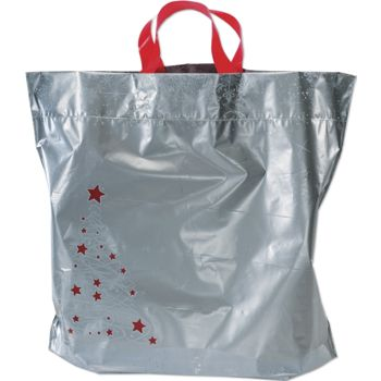 Holiday Tree/Snowflake Low Density Bags, 16 x 6 x 15
