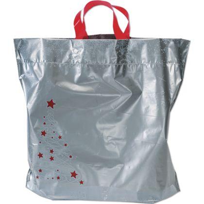 Holiday Tree/Snowflake Low Density Bags, 16 x 6 x 15