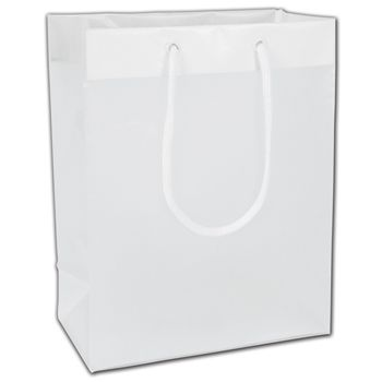 """Clear Frosted Euro-Totes, 8 x 5 x 10"""""""