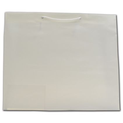 """Clear Frosted Euro-Totes, 19 x 6 x 16"""""""