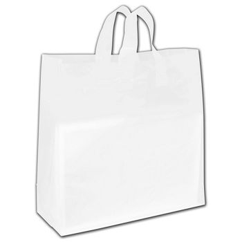 """Clear Frosted Economy Flex-Loop Shoppers, 17 x 7 x 18"""""""