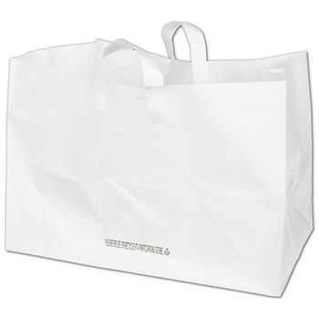 White Full Tray Catering Bags, 22 x 14 x 15 1/4""