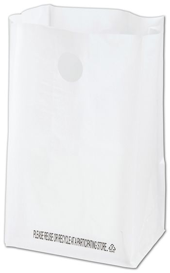 White Lunch Bag Catering Bags, 8 1/4 x 6 x 14