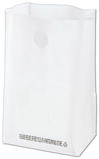 White Lunch Bag Catering Bags, 8 1/4 x 6 x 14""
