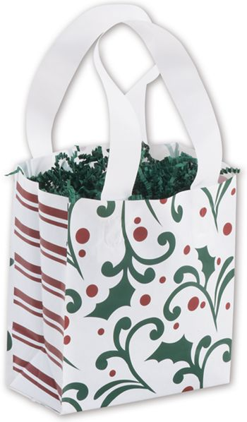 Deck the Halls Shoppers, 6 1/2 x 3 1/2 x 6 1/2