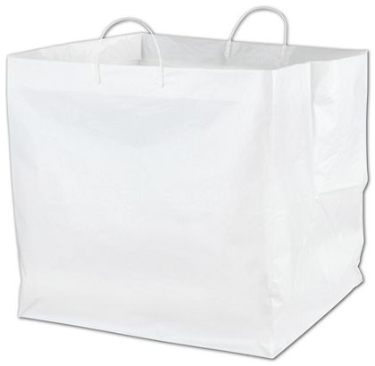 """White Rounder Catering Bags, 18 x 17 x 18"""""""