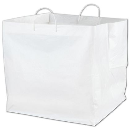 White Rounder Catering Bags, 18 x 17 x 18