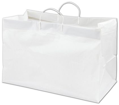 White Side by Side Catering Bags, 19 x 10 x 12""
