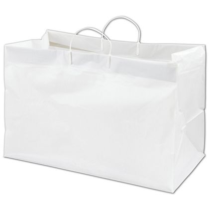White Side by Side Catering Bags, 19 x 10 x 12