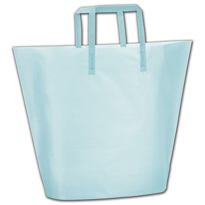 Aqua Frosted High-Density Trapezoid Shoppers