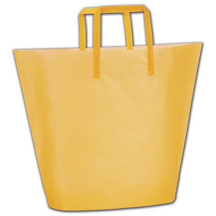 Goldenrod Frosted High-Density Trapezoid Shoppers