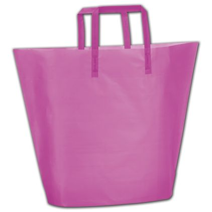Hot Pink Frosted High-Density Trapezoid Shoppers