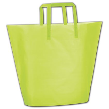 Lime Frosted High-Density Trapezoid Shoppers