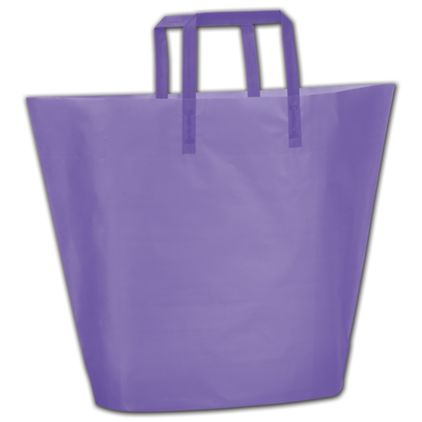 Purple Frosted High-Density Trapezoid Shoppers