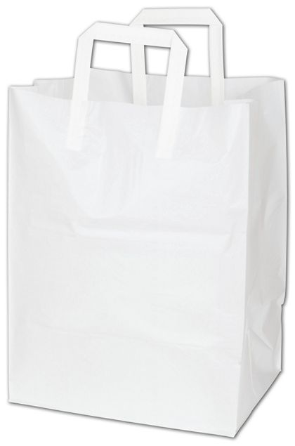 White Cake Take-Out Catering Bags, 12 x 10 x 16""