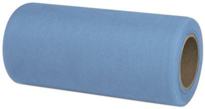 "Tulle Cotillion Blue Ribbon, 6"" x 25 Yds"