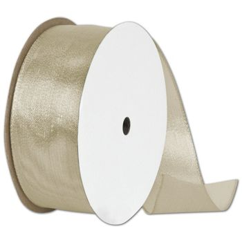 "Wire Edge Magic Wand Champagne Ribbon, 1 1/2"" x 15 Yds"