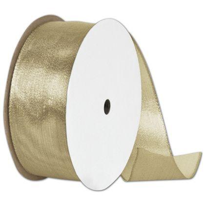 "Wire Edge Magic Wand Gold Ribbon, 1 1/2"" x 15 Yds"