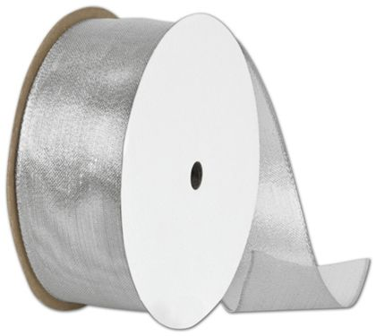 "Wire Edge Magic Wand Silver Ribbon, 1 1/2"" x 15 Yds"