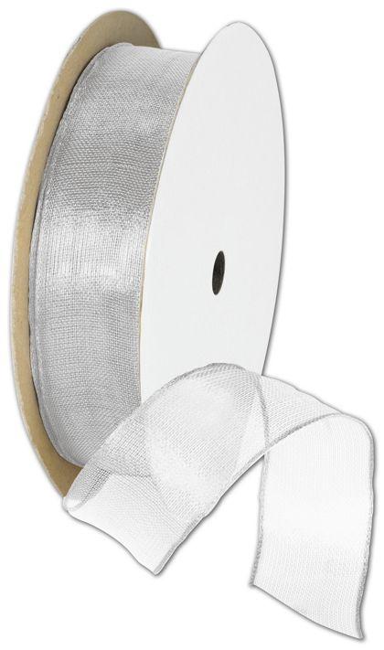 "Wire Edge Magic Wand Silver Ribbon, 7/8"" x 15 Yds"