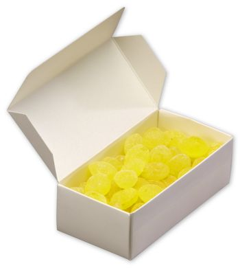 White One-Piece Candy Boxes, 7 1/8 x 3 3/8 x 1 7/8