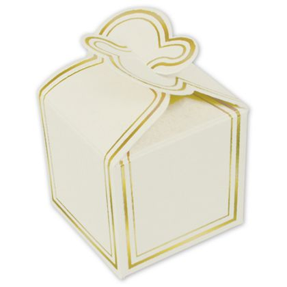 White One-Piece Petal Style Truffle Boxes