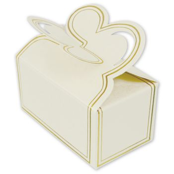 White Two-Piece Petal Style Truffle Boxes