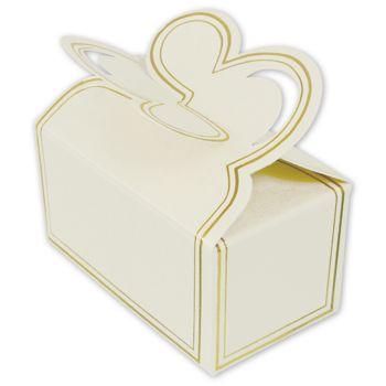 White Two-Piece Petal Style Truffle Boxes