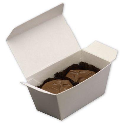 """White Two-Piece Ballotin Boxes, 3 x 1 7/16 x 1 1/2"""""""