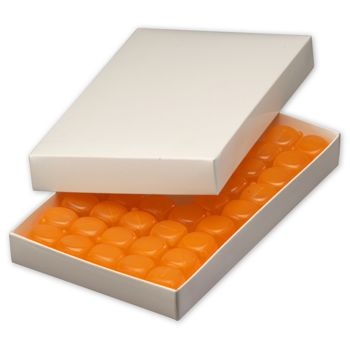 White Two-Piece Candy Boxes, 9 3/8 x 5 5/8 x 1 1/8